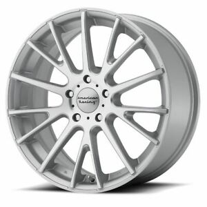 4 New 17x7 40 American Racing Ar904 Bright Silver Face 5x114 3 Wheels Rims