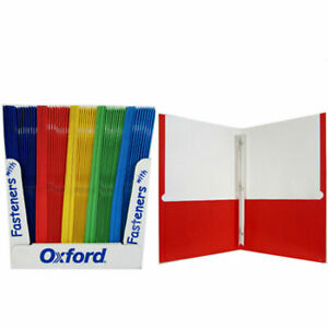 Two Pocket Folders With Fasteners Wholesale Lot Of 100 Bulk Oxford 8 5 x11