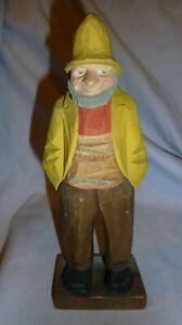 Hand Carved Old Man Old Woman By Lorens Larsson Sweden