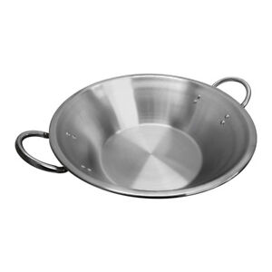22 X 7 1 2 X 13 Flat Surface Carnitas Cazo Pot Cooking Wok Stainless Steel