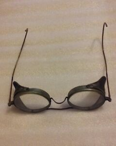 Vtg Safety Glasses Metal Wire Mesh Shields Biker Motorcycle steampunk b Pioneer
