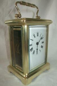 Antique French Brass Cased Carriage Clock C1890 1910 Key Working