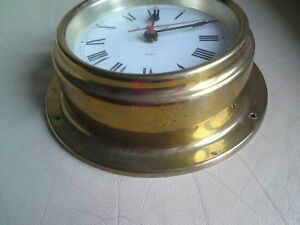 Foster Callear England Marine Quartz Ships Clock Used Free Mailing