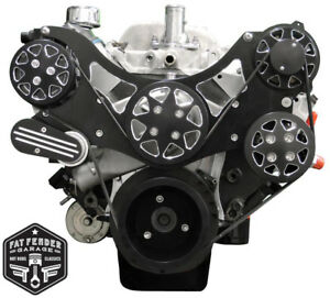 All American Billet Big Block Chevy Serpentine Kit Black Fds Bbc 201 A C Ps