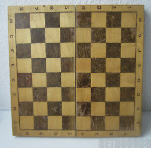 14 Antique Vintage Wooden Checkerboard Game Chess Box