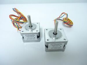 Lot Of 2 Minebea Motor Corp Stepping Motor T1117 01 14pm m206 13v Step Stepper