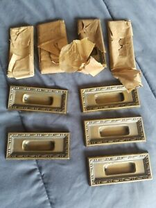 9x Antique Brass Window Sash Pulls Russell And Erwin