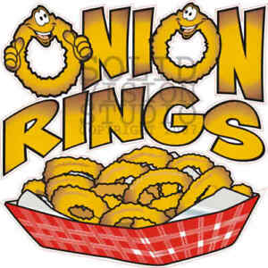 Onion Rings Concession Trailer Snack Food Truck Hot Dog Cart Weatherproof Decal