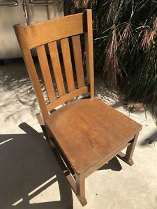 Mission Oak Arts Crafts Nursing Rocker Orig Finish Label Underneath