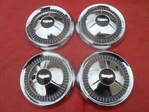 Vintage 1957 Chevy Corvette Belair Dog Dish Poverty Hubcaps Wheel Covers