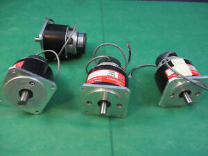 Servo Components Ic 101350 Brush Type Servo Motor Lot Of 4 Rebuilt