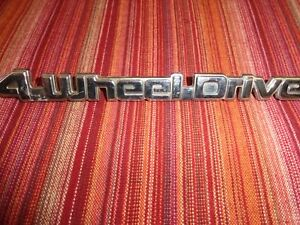 4 X 4 Four Wheel Drive Custom Chrome Emblem Car Logo
