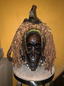 Antique African Mask Zaire Large Size 24 Inches