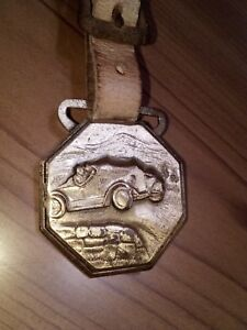 1920s Antique Pikes Peak Colorado Springs Fob Keychain Key Ring Advertising Sign