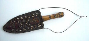Unusual Antique African Tribal Knife Or Dagger Copper Blade Human Figure Handle