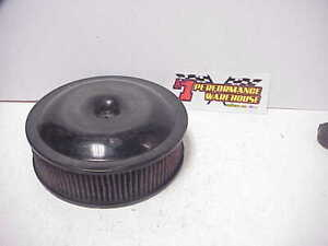 Black Aluminum 14 X 4 Air Cleaner K N Element Imca Wissota Ratrod Figure 8