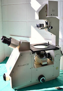 Zeiss Axiovert 35 Phase Contrast Microscope