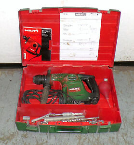 Hilti Te 16 Electric Rotary Hammer Drill With 11 Bits Attachments Manual