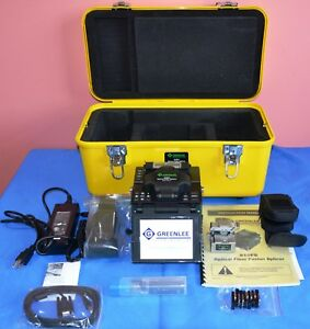 Greenlee 910fs Kit1 Fusion Splicer With 910cl Fiber Optic Cleaver Case 2013
