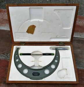 Mitutoyo No 103 186a 9 10 001 Outside Micrometer With Case Japan Vg