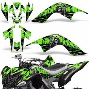 Decal Graphic Kit Yamaha Raptor 700 ATV Quad Decal Wrap 700R Deco 07-12 REAP GRN