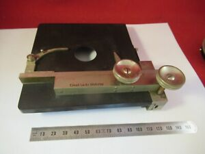 Antique Ernst Leitz Germany Brass Table Stage Microscope Part Optics 9 a 82