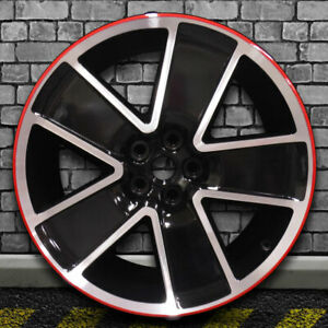 Machined Bright Black W Red Oem Rear Wheel For 2012 2015 Chevy Camaro 21x9 5