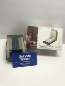Rolodex Covered Business Card File 500 2 1 4x4 Cards 24 A z Vip 24c New In Box