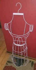 Fancy Vintage Pink Metal wire Tall large Hanging Dress Form mannequin