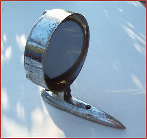 Vintage Yankee Metal Products Co Car Chrome Tinted Swivel Side Mirror Rat Rod