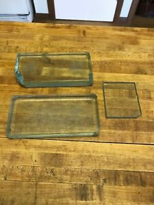 Antique Vintage Dental Tool Glass Mixing Slab Block Glass 3