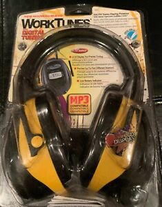 New Ao Saf Worktunes Hearing Ear Protector Earmuff Mp3 Compatible Am fm Radio