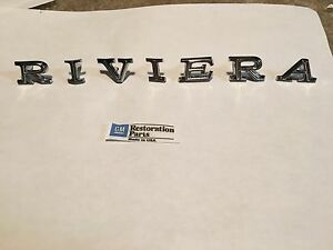 1968 1969 Riviera Hood Nose Letters Emblems New Pair 68 69 U S A Made