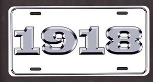 1918 License Plate Ford Chevy Dodge Plymouth Buick Olds Desoto Streetrod Rat Rod
