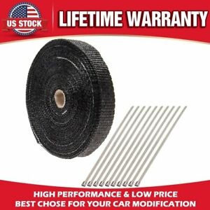 1 Inch By 50 Feet Exhaust Tape Roll Black Exhaust Manifold Header Wrap Car Motor