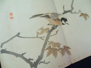 Gyokusyo Flowers And Birds People Japanese Full Color Woodblock Print Book 3