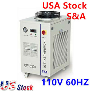 Usa 110v 60hz S a Cw 5300di Industrial Water Chiller For Single 200w Co2 Laser