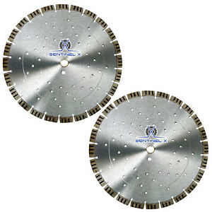 2pack 14 Turbo Seg Diamond Blade W Cooling Holes Masonry Concrete Hardscape