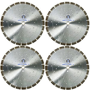 4pack 14 Turbo Seg Diamond Blade W Cooling Holes Masonry Concrete Hardscape