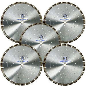 5pack 14 Turbo Seg Diamond Blade W Cooling Holes Masonry Concrete Hardscape