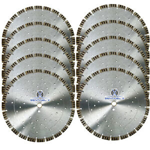 10pack 14 Turbo Seg Diamond Blade W Cooling Holes Masonry Concrete Hardscape