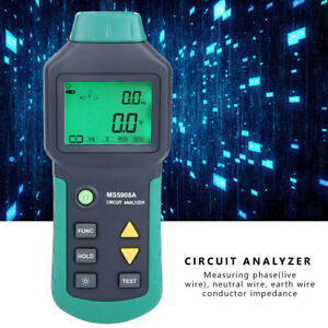 Mastech Ms5908a ms5908c Lcd Circuit Analyzer With Voltage Gfci Rcd Tester Sl