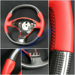 Ferrari F430 Coupe Spider Carbon Steering Wheel With Red Leather Oem Customized