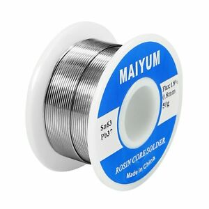 Maiyum 63 37 Tin Lead Rosin Core Solder Wire For Electrical Soldering 0 8mm 50g
