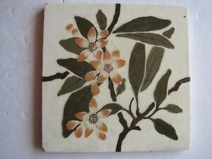 Antique Victorian Wedgwood Patent Impressed Hand Painted Wall Tile C1895