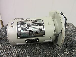 Peerless Winsmith Electric Servo Motor A c 1200 Rpm 1 55 A M 3330 Military New