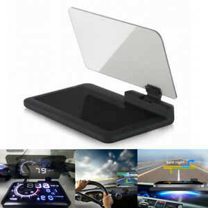 6 Car Auto Gps Hud Head Up Display Smart Phone Mount Holder Stand Projector Ch