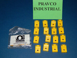 Lot Of 16 Omega 404 k Female Thermocouple Connectors With Replacement Leads
