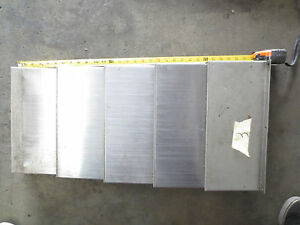 94 Dyna Mechtronics Model 4500 Cnc Vertical Mill X Axis Way Covers Cover