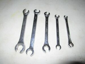 Mac Tools 5 Pc Standard Sae Flare Nut Line Wrench Set Sfb56ptr 7 16 7 8 Usa Tool